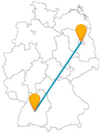 Die Reise mit dem Fernbus von Berlin nach Tübingen bringt Sie von vielen Attraktionen zu einer schriftstellerisch interessanten Sehenswürdigkeit.