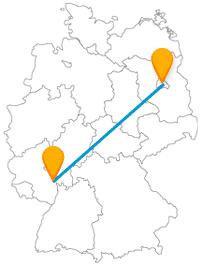 Die Reise mit dem Fernbus von Berlin nach Worms kann sich lebendig und friedlich gestalten.