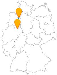 Ob wandern oder gemütlich spazierengehen, auf der Fernbusreise zwischen Bielefeld und Bremen haben Sie die Wahl.