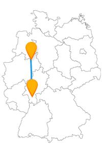 Die Reise im Fernbus Bielefeld Darmstadt ist ein entspannter Ausflug zwischen Hessen und Nordrhein-Westfalen.