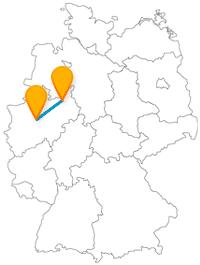 Verbinden Sie mit der Fahrt im Fernbus zwischen Bielefeld und Dortmund Großstadtflair, Erholung und Kultur.