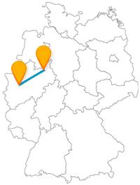 Der Fernbus von Bielefeld nach Düsseldorf bringt Sie von Musicals zu einer Shoppingmeile.