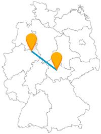 Die Reise mit dem Fernbus zwischen Bielefeld und Erfurt eignet sich gut für Wanderausflüge.