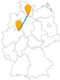 Entdecken Sie die Fahrt mit dem Fernbus von Bielefeld nach Hamburg