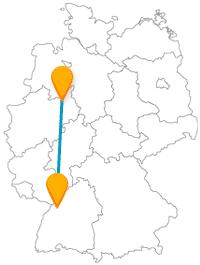 Die Reise mit dem Fernbus von Bielefeld nach Karlsruhe könnte als Museumstour interessant werden.