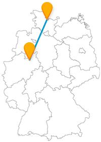 Altstadt-Bummel oder Hafenflair, der Fernbus zwischen Bielefeld und Kiel verbindet beides.