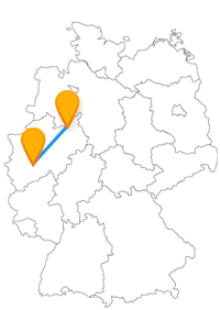 Nehmen Sie den Fernbus Bielefeld Leverkusen für einen entspannten Tagesausflug zwischen zwei interessanten Städten in Nordrhein-Westfalen.