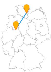 Nach der Fahrt im Fernbus Bielefeld Lübeck werden Sie ganz besondere Häuser entdecken.