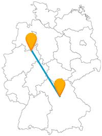Entdecken Sie mit dem Fernbus zwischen Bielefeld und Nürnberg Wildtiere und alte Gemäuer.