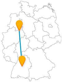 Entdecken Sie auf Ihrer Fernbusreise zwischen Bielefeld und Stuttgart Denkmäler, Kirchen, neue und alte Schlösser.