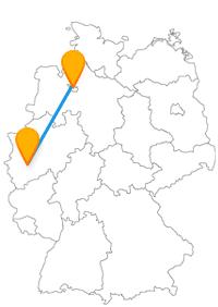 Ob Taue, Seile oder Rollschuhe, mit dem Fernbus zwischen Bochum und Bremen gibt es einiges zu entdecken.