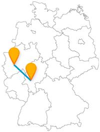 Genießen Sie die Fahrt mit dem Fernbus zwischen Bochum und Frankfurt und erleben Sie eine Stadt des Bergbaus sowie die berühmte Flughafenmetropole.