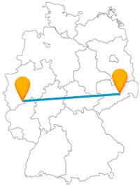 Reisen Sie mit dem Fernbus zwischen Dresden und Bonn vom Elbflorenz zum ehemaligen Regierungssitz.