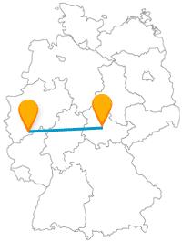 Nach Ankunft mit dem Fernbus von Bonn in Erfurt können Sie mittelalterliches Flair erleben.