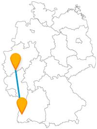 Malerisch, historisch und musikalisch kann es werden nach der Reise im Fernbus zwischen Bonn und Freiburg.