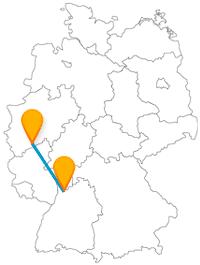 Historische Gebäude und Studentenflair erwarten Sie auf der Reise mit dem Fernbus von Bonn nach Heidelberg.