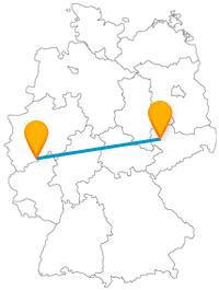 Lernen Sie auf Ihrer Reise im Fernbus zwischen Bonn und Leipzig eine 2000 Jahre alte Statt kennen oder tauchen in eine Bücherlandschaft ein.