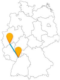 Ehemalige Hauptstadt Deutschlands oder wichtiger Verkehrsknotenpunkt, der Fernbus zwischen Bonn und Mannheim bringt Sie an beide Orte.