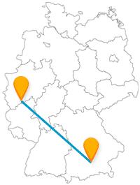 Eine Reise mit dem Fernbus von Bonn nach München für Sammler und Schlossliebhaber