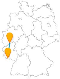 Politisch-historisch kann es auf der Reise mit dem Fernbus zwischen Bonn und Saarbrücken zugehen.
