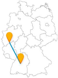 Kuns- und stilvoll kann es auf der Reise im Fermbus zwischen Bonn und Stuttgart zugehen.
