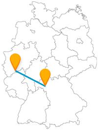 Wenn Sie mit dem Fernbus zwischen Bonn und Würzburg reisen, sehen Sie vielleicht doppelt oder fühlen sich wie ein Falke.