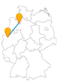 Entdecken Sie auf Ihrer Reise mit dem Fernbus Bottrop Bremen ein Quadrat, ein Tetraeder und andere Architekturen.