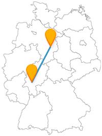 Entdecken Sie auf Ihrer Reise mit dem Fernbus von Braunschweig nach Frankfurt, wo im Mittelalter Feste gefeiert wurden und über wie viele Stufen man eine Aussichtsplattform erreichen kann.