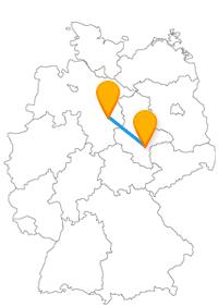 Der Fernbus zwischen Braunschweig und Halle bringt Sie zum Dom, zu Burgen und Kirchen sowie zu einer Waage.