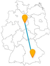 Feste feiern oder Sehenswürdigkeiten entdecken - die Reise mit dem Fernbus von Braunschweig nach München macht es möglich.