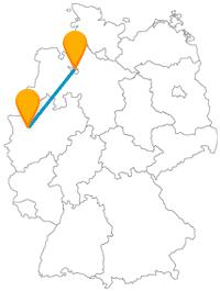 Die Reise mit dem Fernbus von Bremen nach Duisburg schickt Sie entweder auf einen etwas gruseligen Spaziergang oder in die freie Natur.