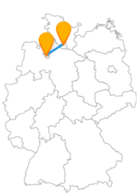 Mit dem Fernbus von Bremen-Flughafen nach Hamburg geht es in die Speicherstadt und auf große Reise.
