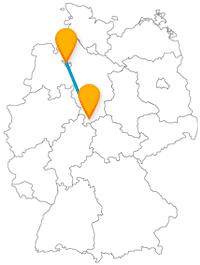 Auf der Fernbusverbindung zwischen Bremen und Göttingen lohnt sich eine Besichtigung der jeweiligen Rathäuser.