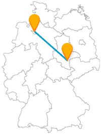 Lassen Sie sich auf der Reise mit dem Fernbus zwischen Bremen und Halle von Burgen und Kirchen beeindrucken.