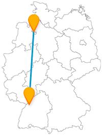 Die Reise mit dem Fernbus von Bremen nach Karlsruhe führt Sie zu einem besonderen Grab- und Denkmal.