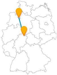 Nach der Fahrt im Fernbus zwischen Bremen und Kassel finden Sie eine maritime Flaniermeile und 2,4 Quadratkilometern Spazierfläche vor.