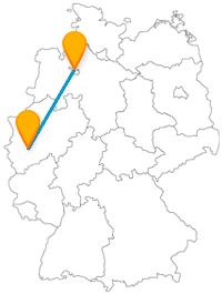 Die Reise mit dem Fernbus von Bremen nach Köln ist insbesondere historisch interessant.
