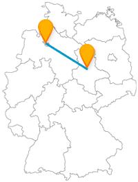 Weitläufige Parks und schöne Flaniermeilen erwarten Sie auf der Reise mit dem Fernbus zwischen Bremen und Magdeburg.