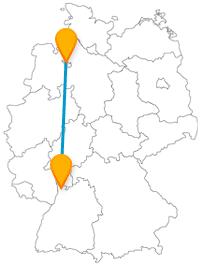 Nutzen Sie die Fahrt im Fernbus zwischen Bremen und Mannheim, um nicht nur Natur, sondern auch mittelalterliches Flair zu genießen.