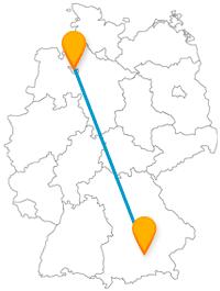 Eine Reise mit dem Fernbus von Bremen nach München lohnt sich im Sommer wie im Winter.