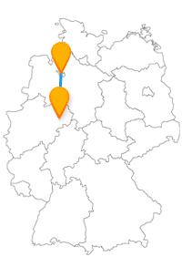 Besuchen Sie mit dem Fernbus zwischen Bremen und Paderborn Musikanten und eine dreieckige Burg.