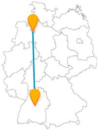 Genießen Sie das nordische Flair auf Ihrer Fernbusreise zwischen Bremen und Stuttgart.