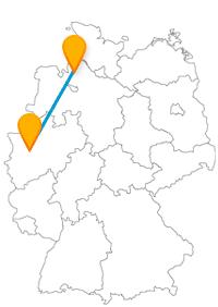 Die Fahrt im Fernbus Bremerhaven Düsseldorf lohnt sich, um ein breites Spektrum an Sehenswürdigkeiten zu erleben.