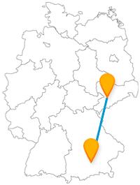Verbinden Sie auf Ihrer Reise mit dem Fernbus zwischen Chemnitz und München Tropfsteinhöhle, Unterwasserbergwelt und Glockenspiel.