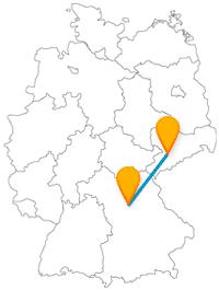 Tropfsteinhöhle oder Spielzeugmuseum, auf Ihrer Reise mit dem Fernbus zwischen Chemnitz und Nürnberg erleben Sie unterschiedliche Sehenswürdigkeiten.