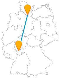 Den Fernbus von Darmstadt nach Hamburg nehmen