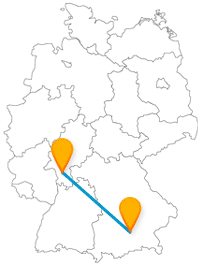 Mit dem Fernbus zwischen Darmstadt und München haben Sie verschiedene Märkte und Sehenswürdigkeiten zum Ziel.