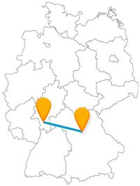 Die Fahrt mit dem Fernbus zwischen Darmstadt und Nürnberg bringt Sie an heilige und technische Orte.