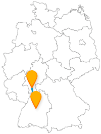 Auf Ihrer Reise mit dem Fernbus zwischen Darmstadt und Stuttgart kann es geruhsam und erholsam werden.