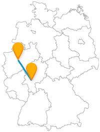 Erleben Sie mit der Reise im Fernbus Dortmund Frankfurt Vielfalt und Gegensätze.